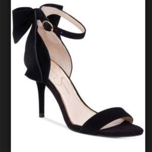 Jessica Simpson black suede heel